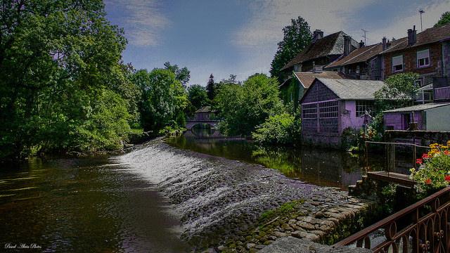 Village d'Eymoutiers en Haute Vienne