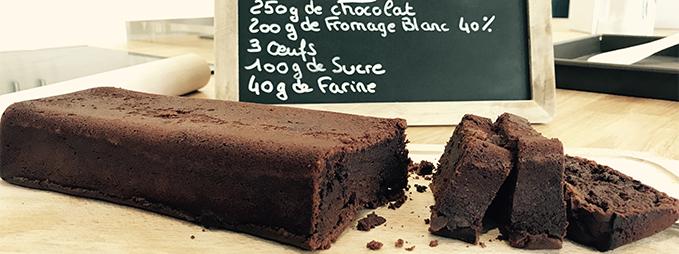recette gâteau chocolat fromage blanc