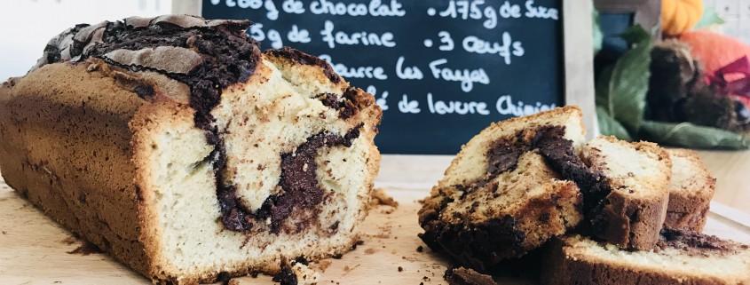 recette cake chocolat laiterie les fayes