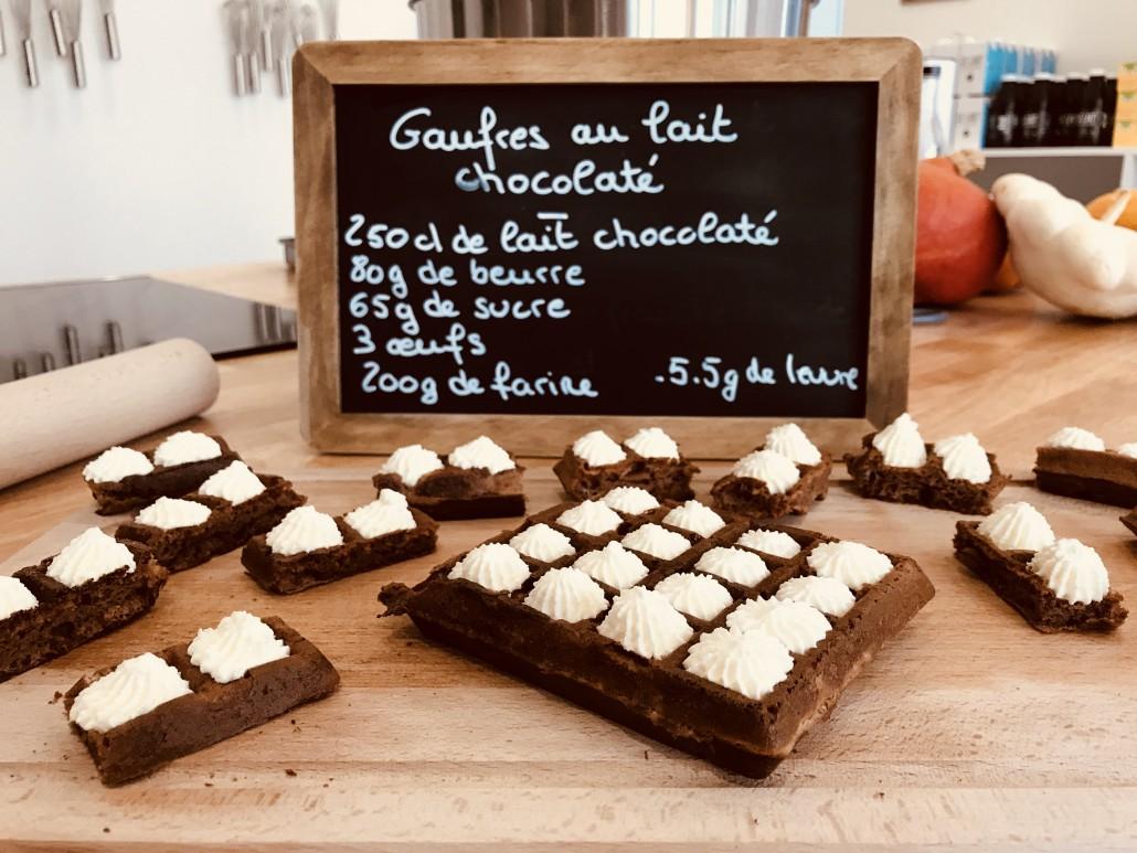 gaufre recette chocolat laiterie les fayes