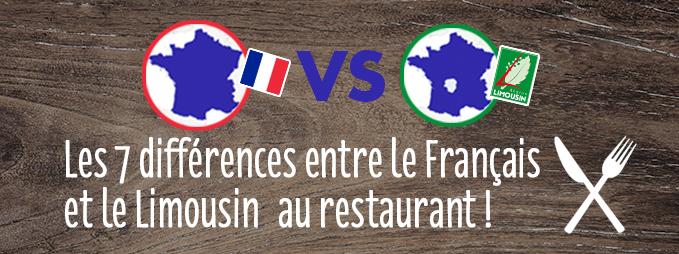 Les différences entre le Français et le Limousin au restaurant