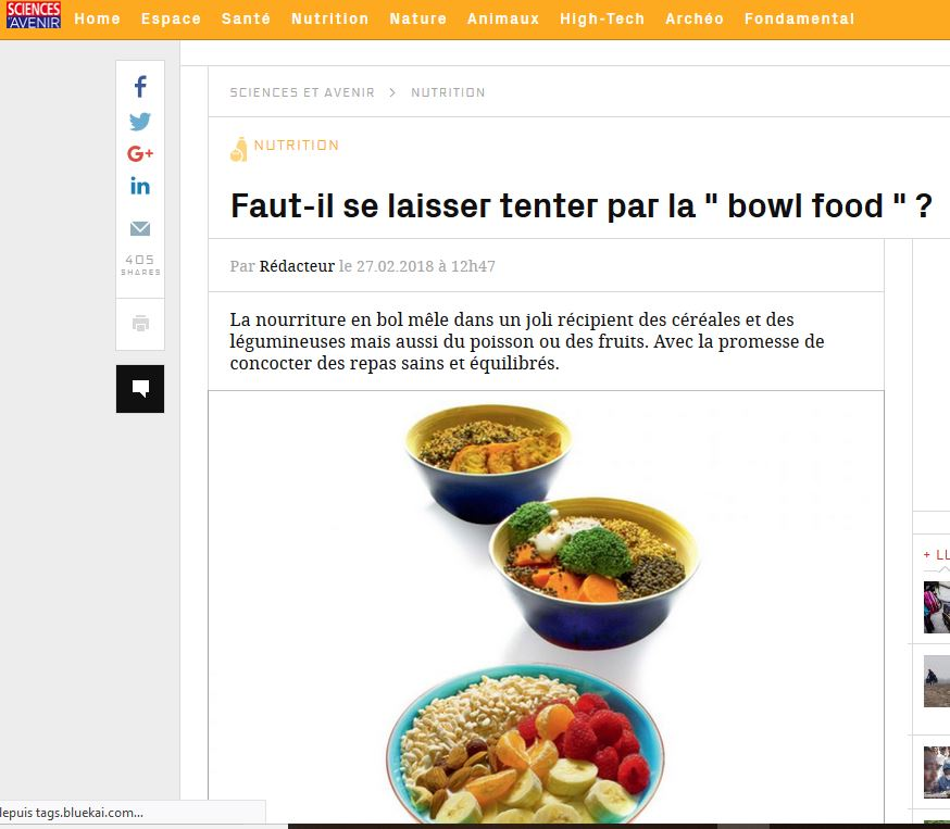 Tendance bowl food
